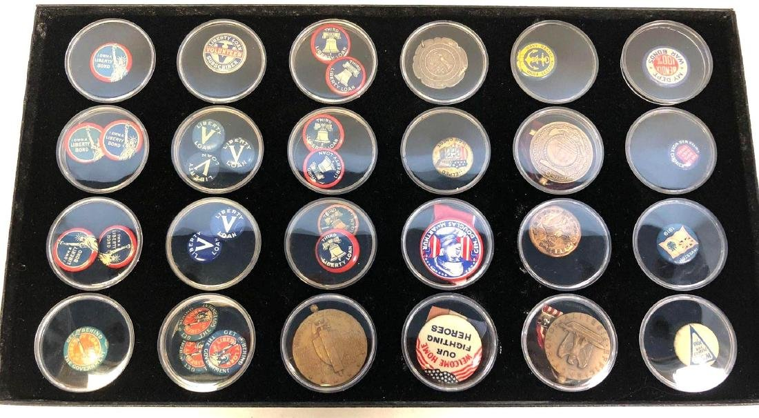 Collection Of WWI And WWII Era Pins To Include WWI