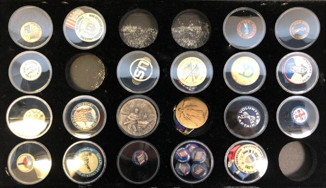 Collection Of WWI And WWII Era Pins To Include, Rally