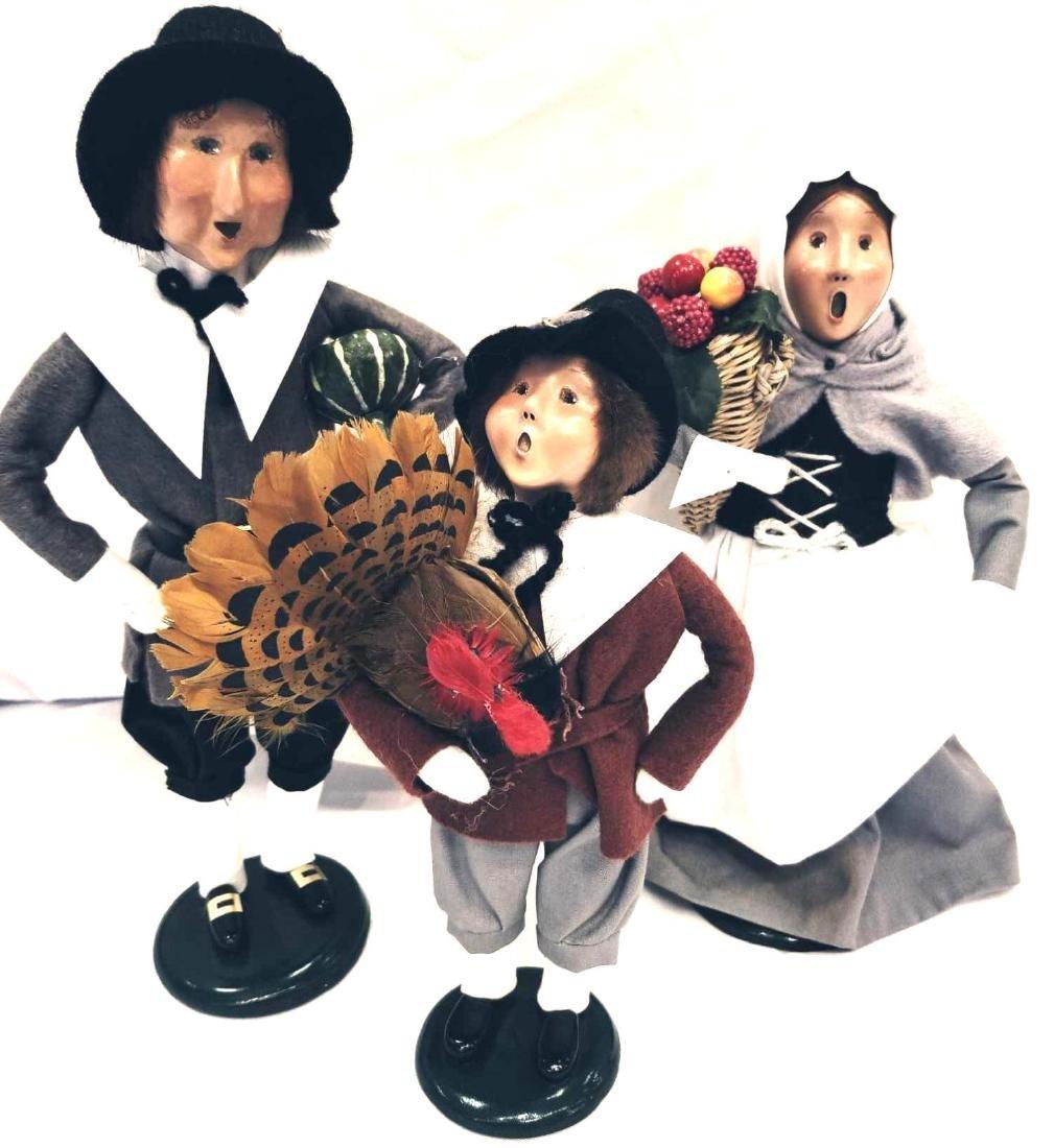 Three (3) Pilgrim Byers Choice Ltd. The Carolers. 1997