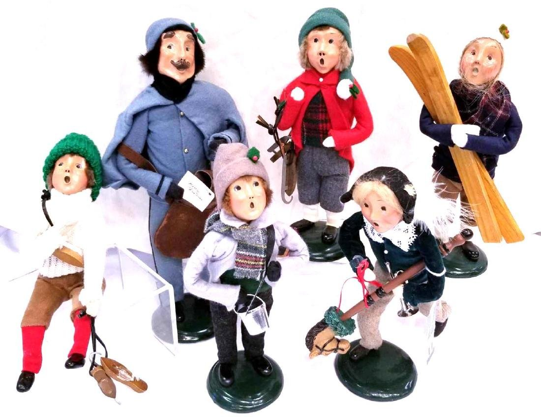 Six (6) Byers Choice Ltd. The Carolers To Include