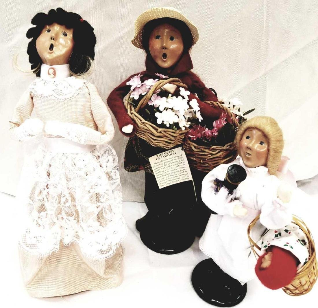 Three (3) Pieces Byers Choice Ltd. The Carolers To