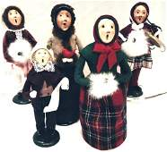 Five (5) Byers Choice Ltd. The Carolers To Include,