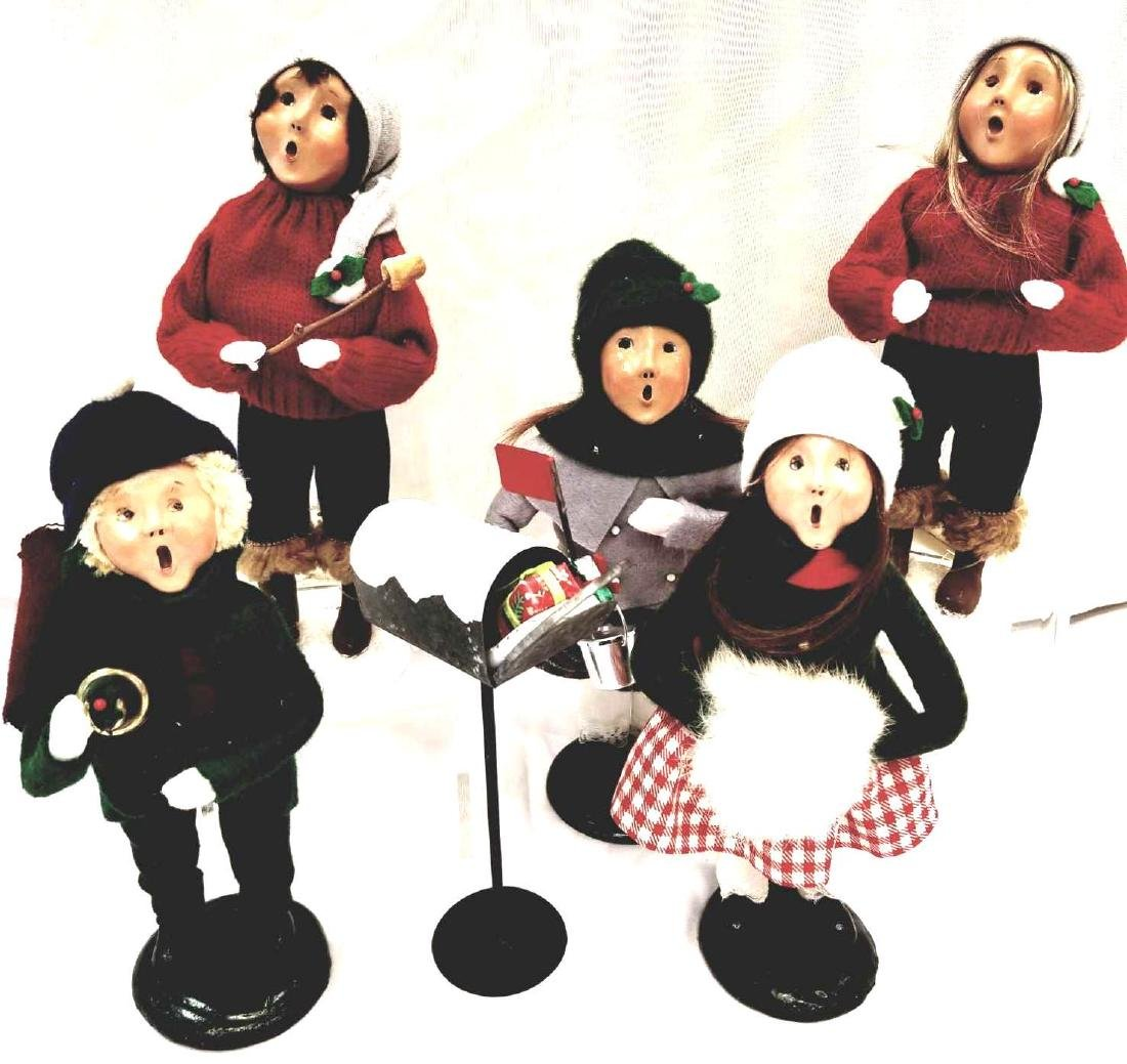 Five (5) Byers Choice Ltd. The Carolers To Include, Boy