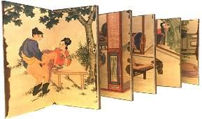 """Antique Accordion Japanese Erotica """"Shunga"""" Pillow Book"""