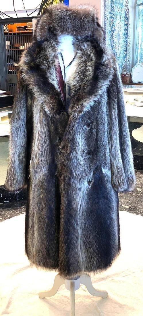 7ae0a9764f 1920's Mens Raccoon Fur Coat With Hat Size 3XL - Feb 09, 2019 ...