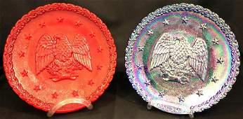 Pair of 1776-1976 Bicentennial Fenton Carnival Glass