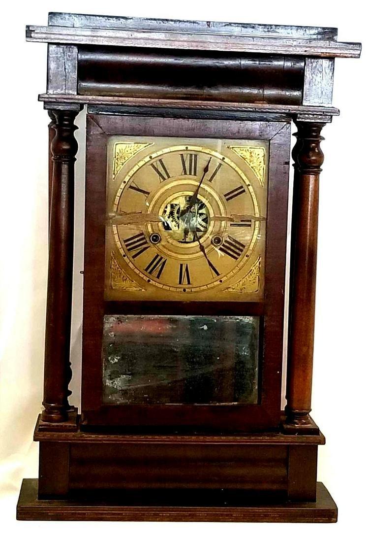 Antique William S Sperry Pillar Shelf Clock