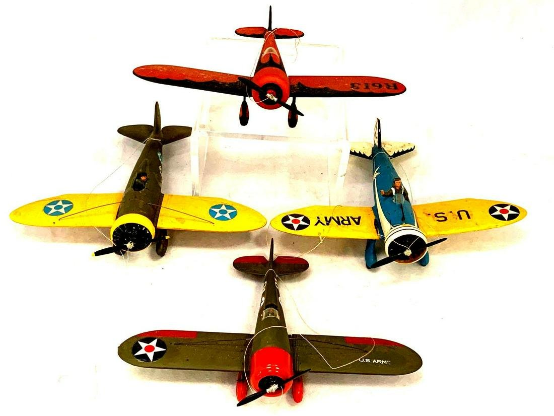 Collection of Vintage Military Model Planes