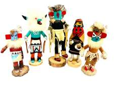 Five Signed Northern Native American Kachina Dolls