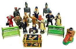 Collection Of Vintage Cast Iron & Tin Toys