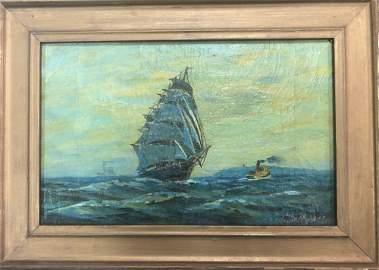 Seascape by Albert Pinkham Ryder (1847-1917)