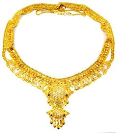 23k Gold Indian Mughal Style Necklace