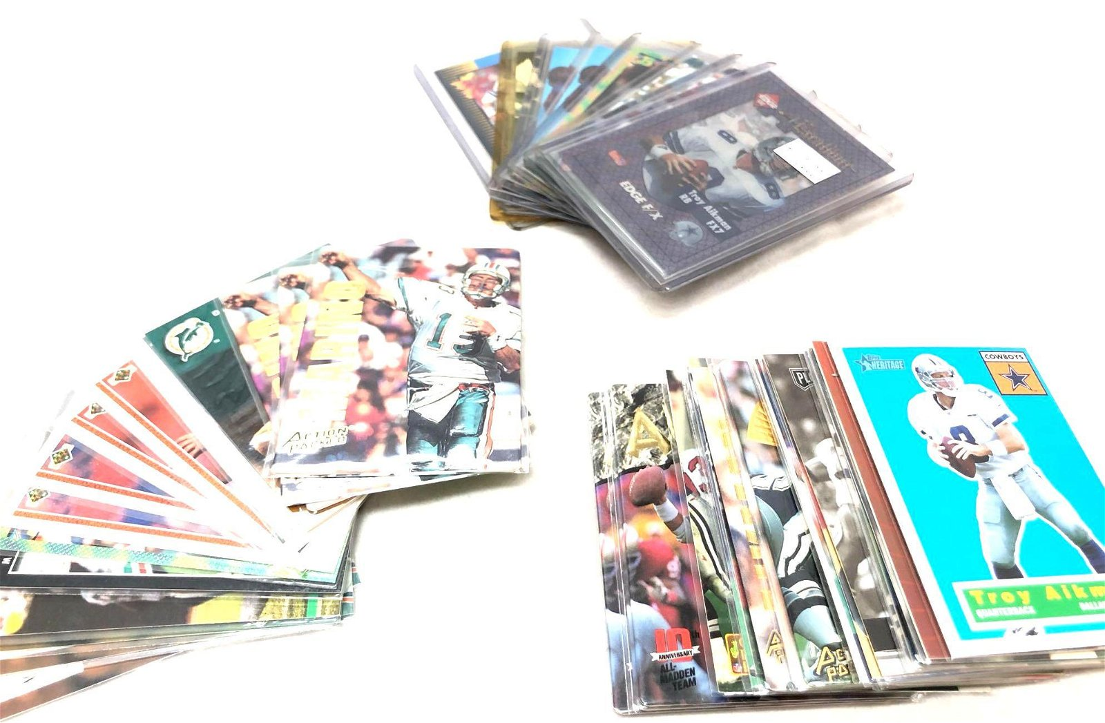 Collection Of Troy Aikman/Dan Marino Cards