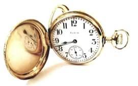 Antique 14k Gold Ladies Elgin Pocket Watch