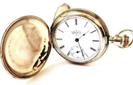 Antique Elgin 14k Gold Ladies Pocket Watch