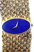 Chopard 18k Vintage Lapis Lazuli Dial Watch