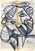 Picasso Portrait on French La Figaro Litteraire