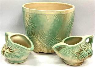 Three Piece Collection Of Vintage McCoy Pottery