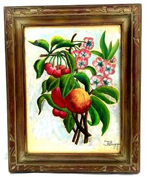Still Life With Fruit & Flowers By James Montgomery