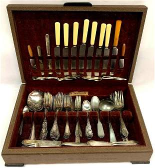 Wallace Silver Plated Flatware Set