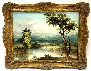 River Scape Landscape by William Hooper