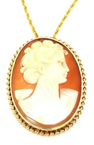 Antique 14k Gold Cameo Brooch/Pendant