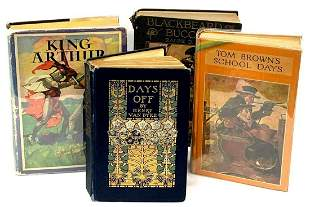 Collection of Rare and Antique Books ft. Illustrations