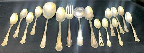 Collection Of Sterling & Silver Plate