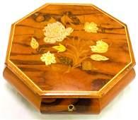 Italian Wooden Musical Jewelry Box