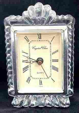 Vintage Small Crystal Clear Shelf Clock