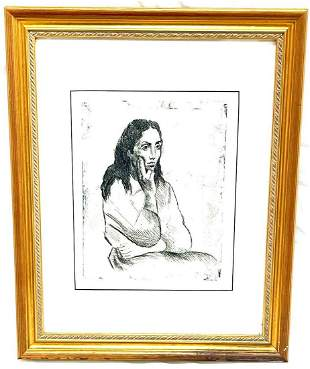 Greek Girl #2 by Raphael Soyer (American 1899-1987)