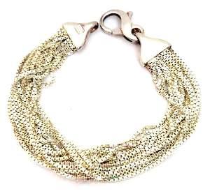 Milor Italian Sterling Silver 18 Strand Bracelet