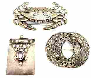 Suite Of Sterling Silver Jewelry