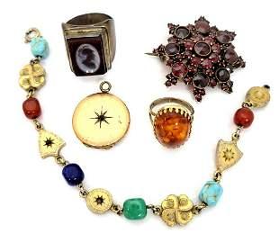 Suite of Vintage Costume Jewelry