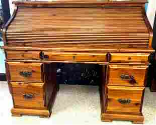 Vintage Roll Top Desk Tambour Style