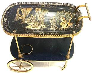 Antique Asian Style Tea Cart
