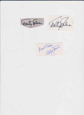6: Marty Milner, 1931, 2 Autograph Signatures, American