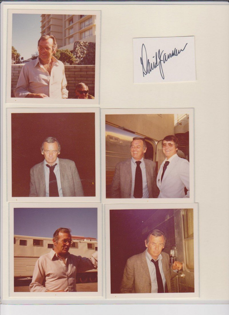 8: David Janssen Signature Autograph & Various Photos