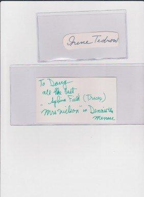 9: Sylvia Field 1901-1998, Autograph Signature, America