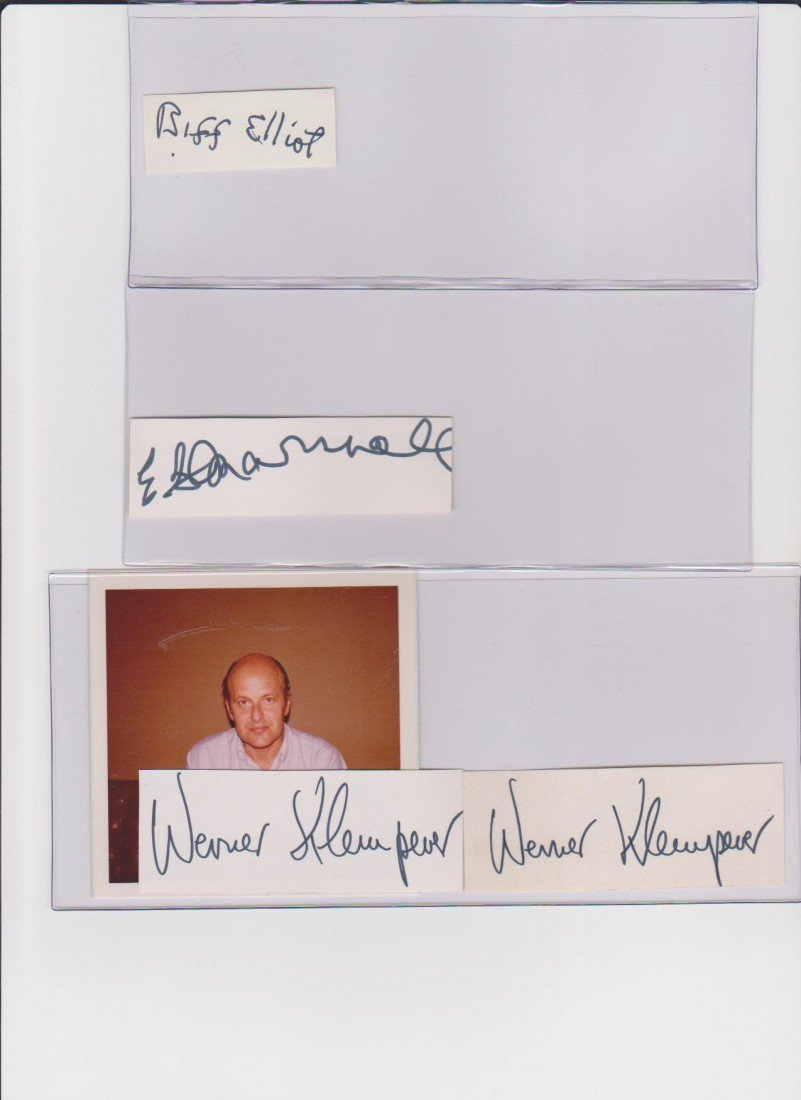 11: E.G. Marshall 1914-1998, Autograph Signature, Ameri