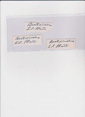 12: Edward Platt 1916-1974, 3 Autograph Signature, Amer