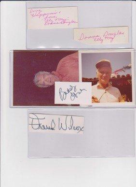 Donna Douglas 1933, 2 Autograph Signatures,  Americ