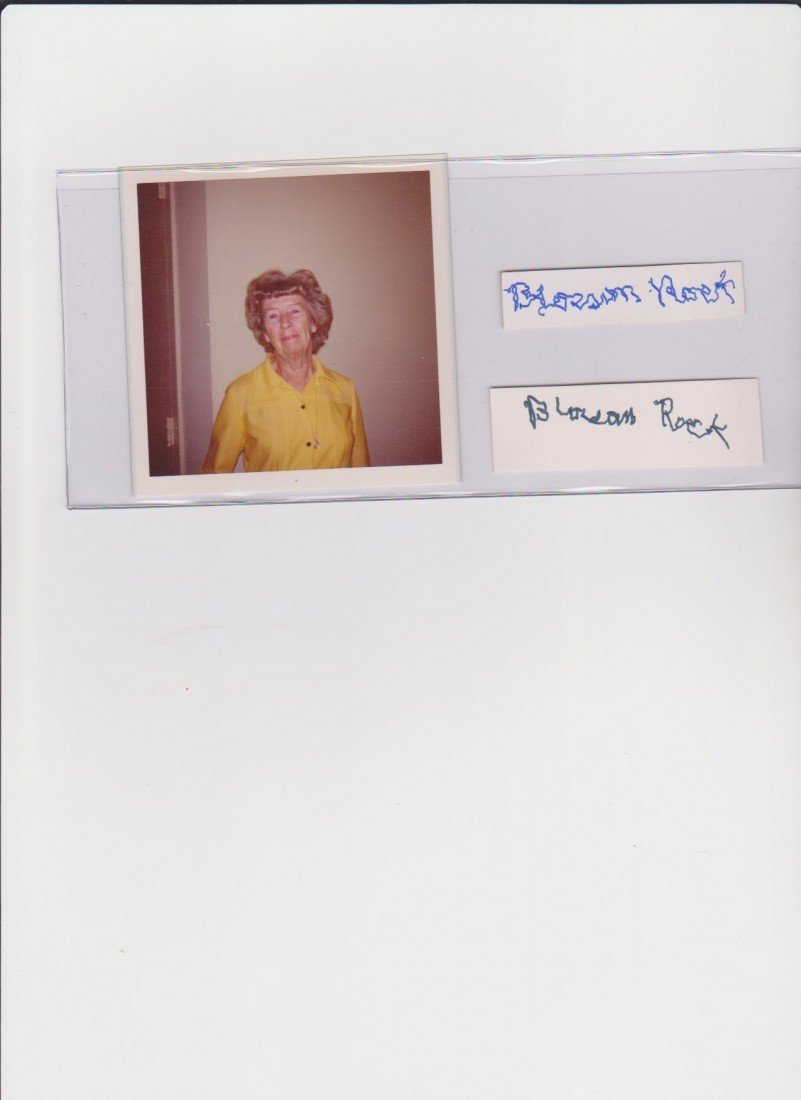 15: Blossom Rock 1895-1979, 2 Autograph Signatures & Ph
