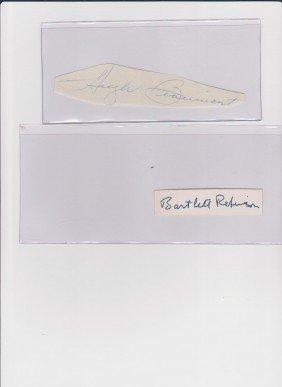 Hugh Beaumont 1909-1982, Autograph Signature, Ameri