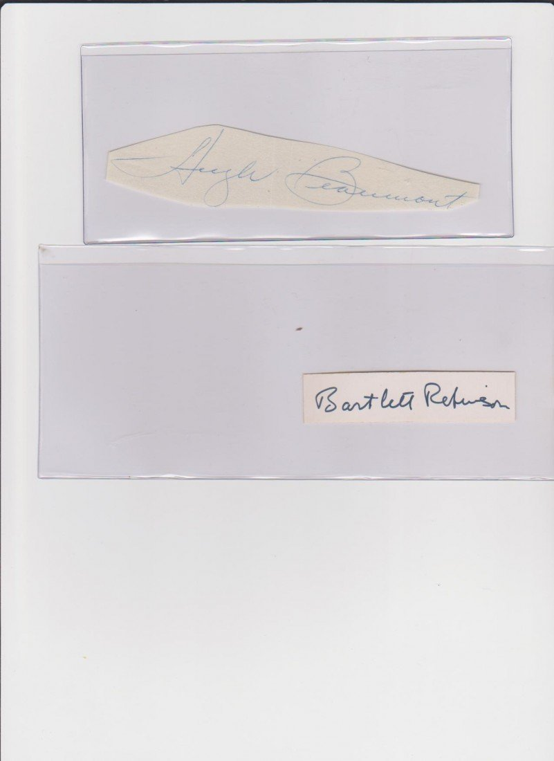 16: Hugh Beaumont 1909-1982, Autograph Signature, Ameri