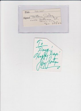 18: Ellen Corby 1911-1999, Signed Document, American Ac