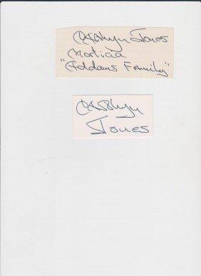 19: Carolyn Jones 1930-1983, 2 Autograph Signatures, Am