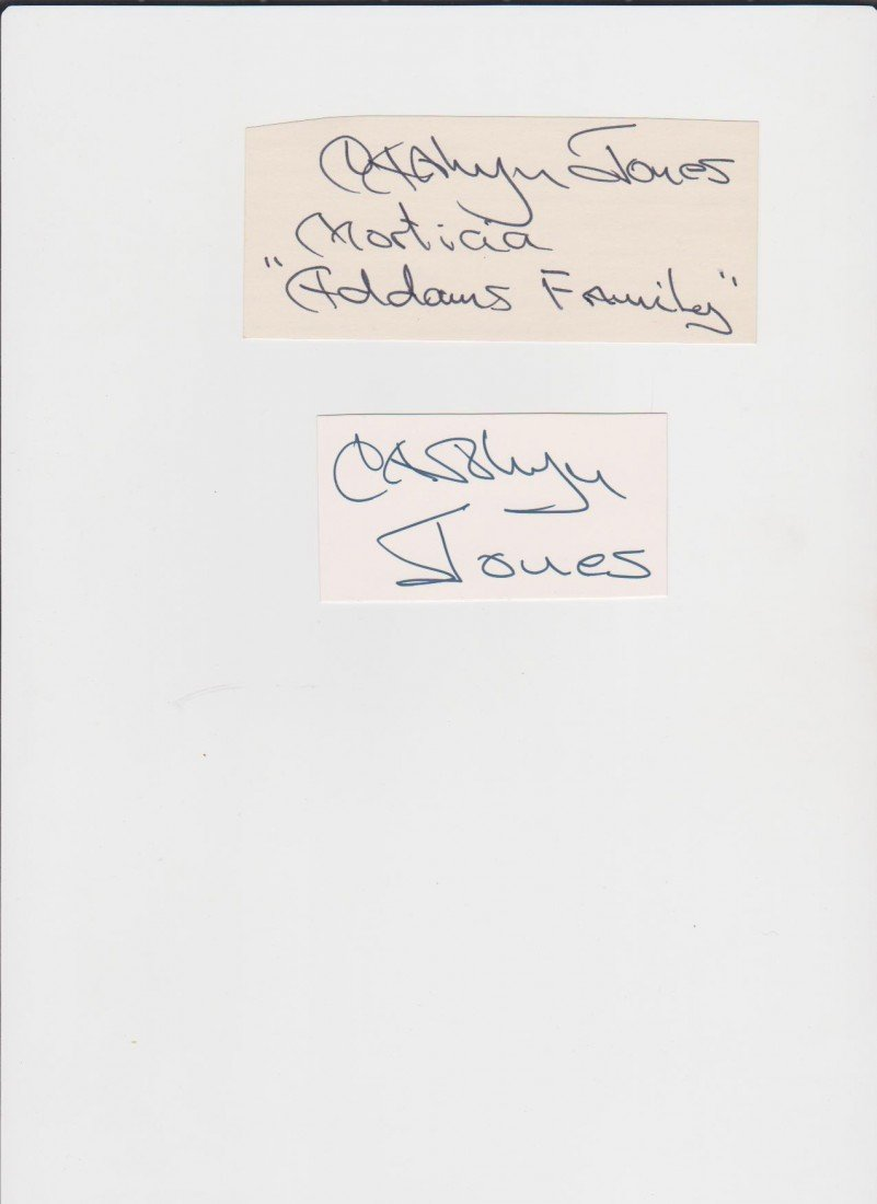 19: Carolyn Jones 1930-1983, 2 Autograph Signatures, Am