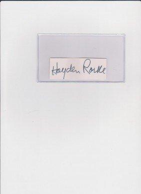 21: Hayden Rorke 1910-1987, Autograph Signature, Americ