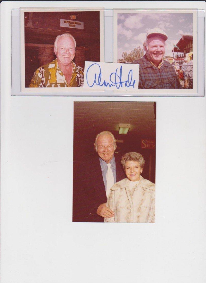 22: Allen Hale Jr. 1921-1990, Autograph Signature & 3 P